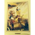 Krishna & Arjuna Blowing Conch Shells